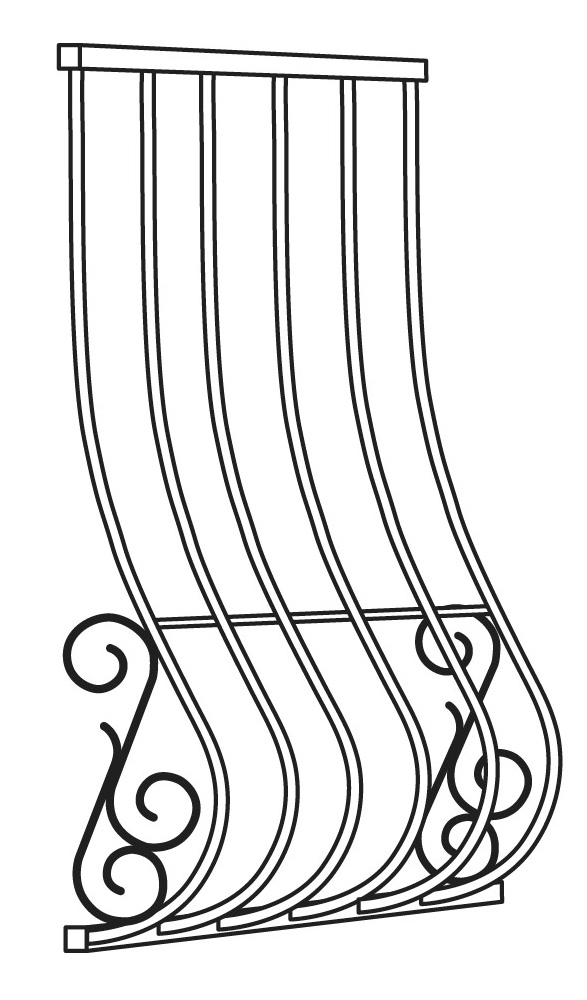 Iron Curtains - Wrought iron window grilles